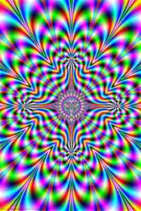 ilusiones opticas weed psychedelic pulse optical illusion poster