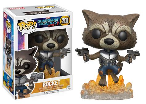 Funko Pop Guardians Of The Galaxy Rocket Raccoon Flocked Ravagers Edi Funko Guardians Of The Galaxy 2 Pop Vinyls Revealed
