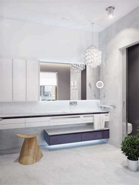 Modern White Vanity Unit Interior Design Ideas Modern Bathroom Units