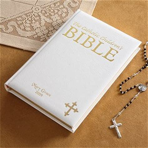 Wedding Bible Engraved by White Personalized Children S Catholic Bible