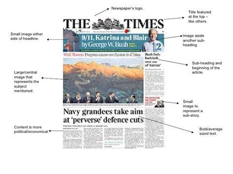 magazine headline and newspaper analysis k brett