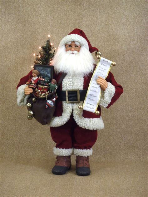 karen didion crakewood lighted vintage gift bag santa