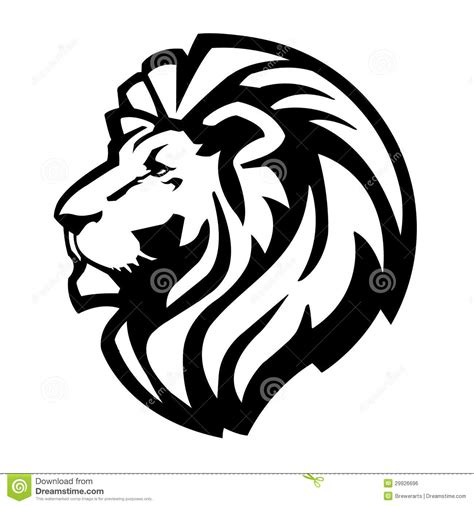 lion head icon stock vector illustration of aggression