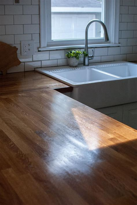 Ikea Butcher Block Countertops simple clean tutorial for waterloxing ikea butcher block countertops house decorators collection