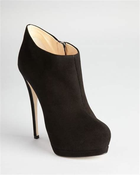 black suede high heel booties giuseppe zanotti booties high heel in black black suede