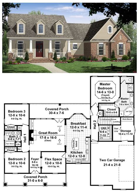 1800 square foot house plans house plan 59104 total living area 1800 sq ft 3