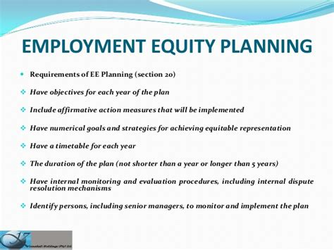 employment equity processes planning and committees