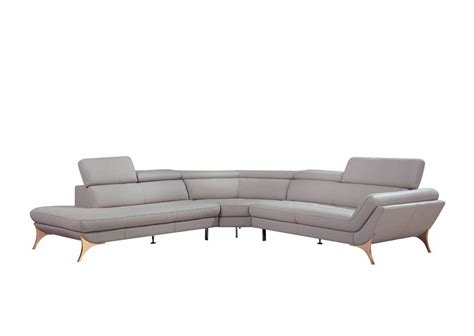 Grey Leather Sectional Sofa Modern Grey Sectional Sofa Vg41 Leather Sectionals
