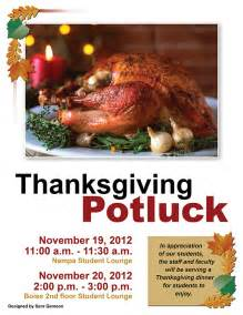 Thanksgiving Potluck Stevens Henager College Thanksgiving Potluck 2012 On Behance