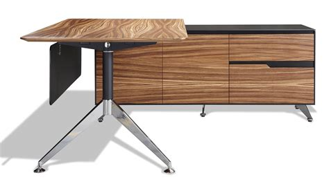 Right Return Desk by Darin Executive Desk With Right Return Cabinet