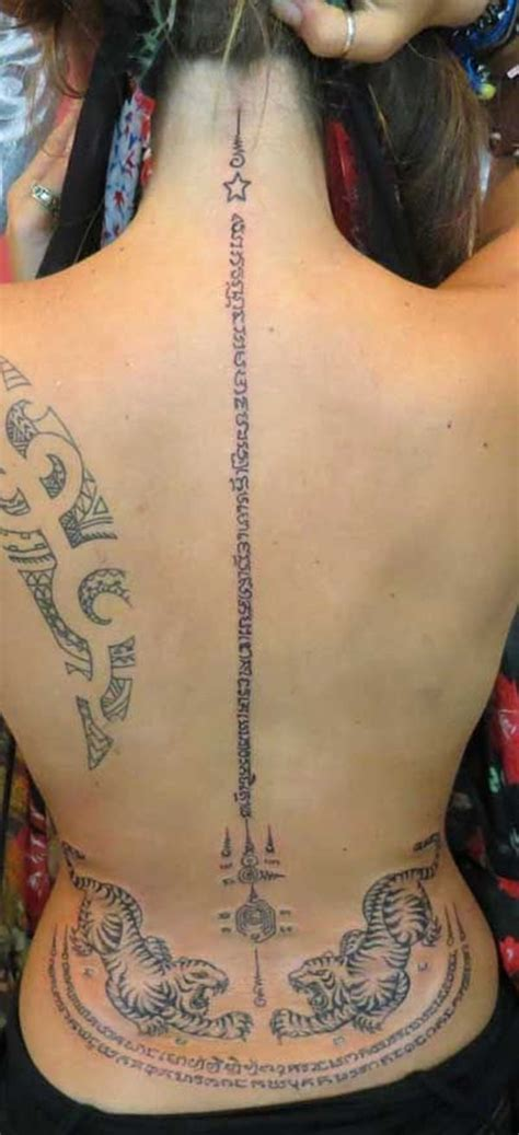 yantra tattoo neck 9 best thai tattoos images on pinterest tattoo ideas