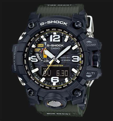 Jam Tangan Casio G Shock Mud Master Glow In The Darkblack List casio g shock mudmaster gwg 1000 1a3dr sensor