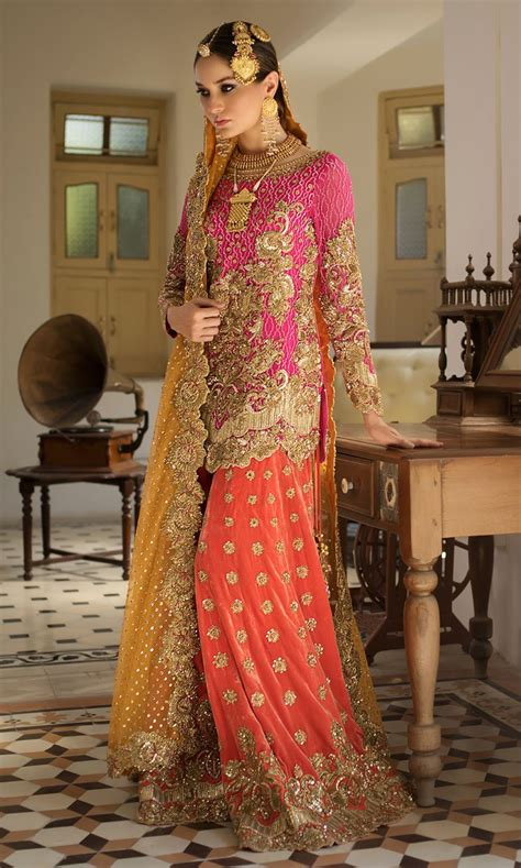 nomi ansari latest heavy embroidered bridal dresses