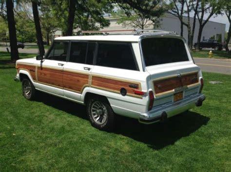Jeep Wagoneer Wood Trim Purchase Used 1988 Beautiful Original Shiny White Jeep