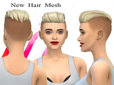 shaved hair sims 4 neissy s new hair mesh punk hair