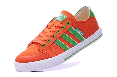 Adidas Slop Canvas Green adidas store low canvas orange green adidas neo
