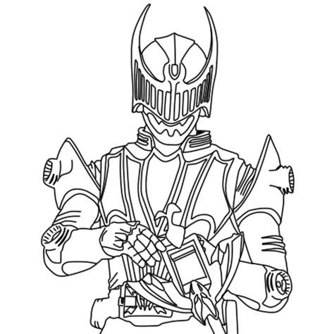 Lineart De Kamen Rider Knight By Gokunks On Deviantart Coloring Pages Kamen