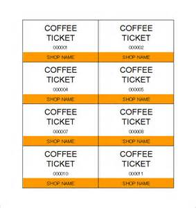 Meal Ticket Template by Ticket Template 97 Free Word Excel Pdf Psd Eps