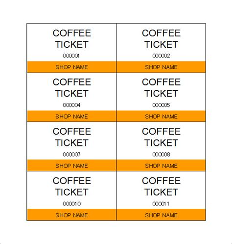 printable meal tickets ticket templates 99 free word excel pdf psd eps