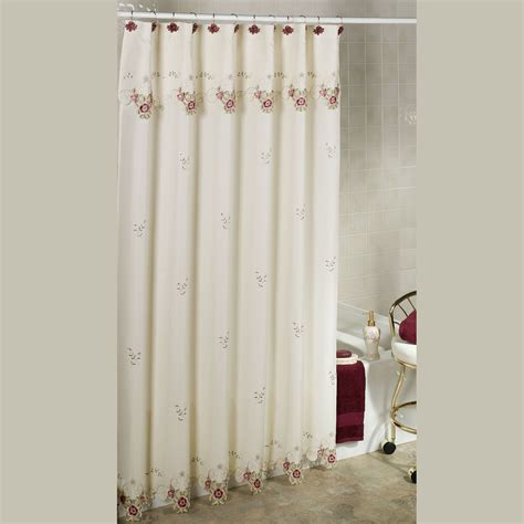 rose curtains bella rose shower curtain