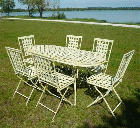chaises en fer forgé table de jardin fer forg 233 meilleur de salon de jardin en