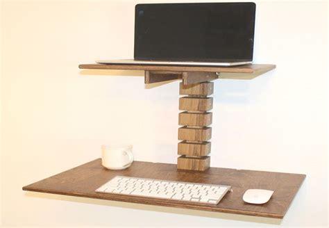 Wall Mounted Standing Desk By Gereghty Desk Co Wall Mounted Standing Desk