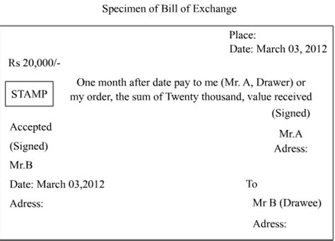 Bill Of Exchange Drawer by How To Draw The Specimen Of Quot Bills Of Exchange