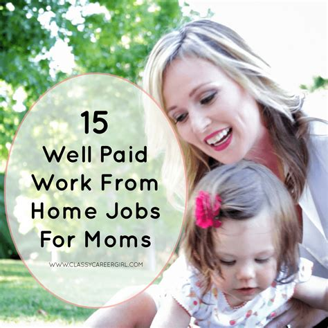 Work From Home Online Jobs For Moms - 15 well paid work from home jobs for moms classy career girl
