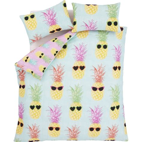 pineapple bedding catherine lansfield funky pineapple bedding set multi