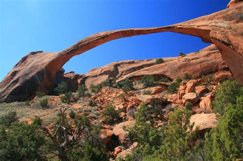 World Landscape Arch Arches Of Utah