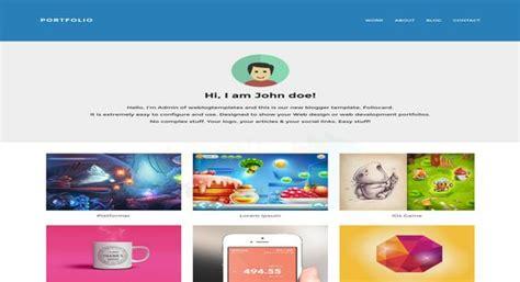foliocard responsive portfolio blogger template 2014 free