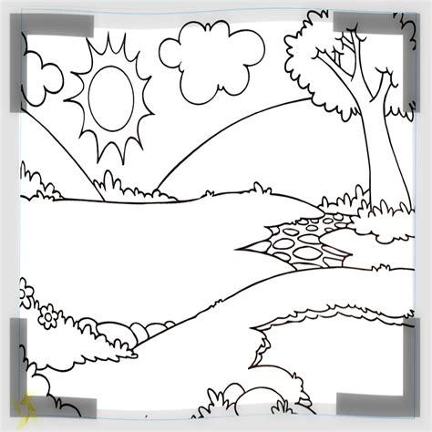dibujos para colorear paisajes paisajes descargar para dibujar im繝筍genes de valores