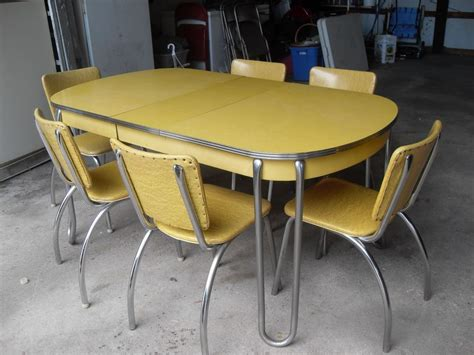 Yellow Kitchen Table Yellow Retro Kitchen Table Chairs Home Decor Interior Exterior