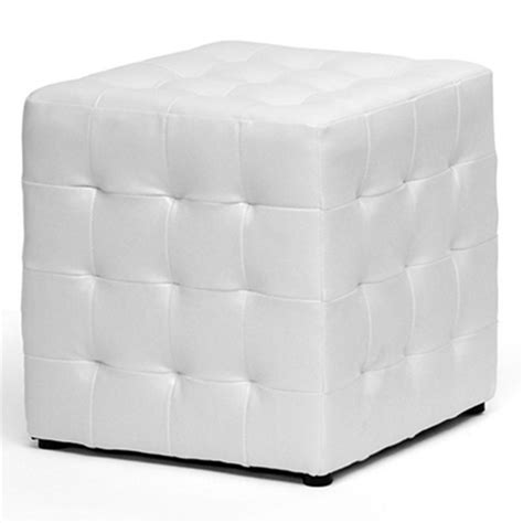 Tufted Cube Ottoman Siskal Tufted Cube Ottoman White Upholstery Set Of 2 Dcg Stores