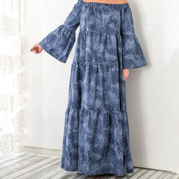 Carolline Longsleeve Maxi Denim Diskon best denim maxi dresses products on wanelo