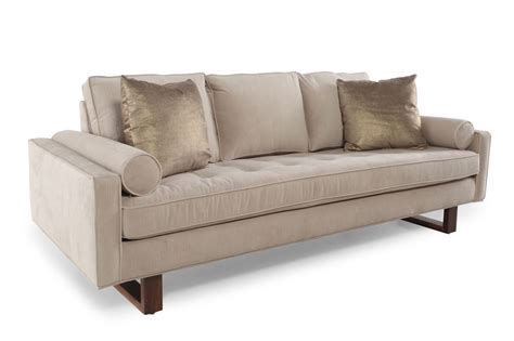 mathis brothers living room furniture contemporary 89 quot sofa in cream mathis brothers furniture