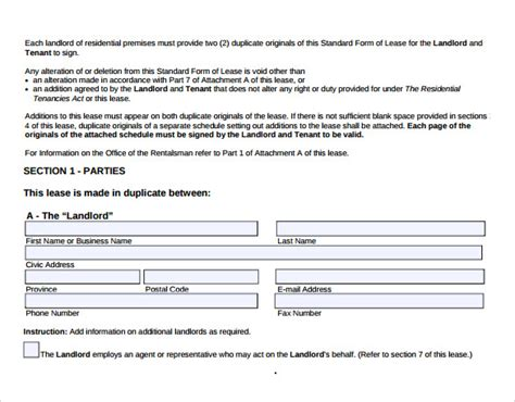 Downloadable Lease Agreement Template 9 blank lease agreement templates free sample example