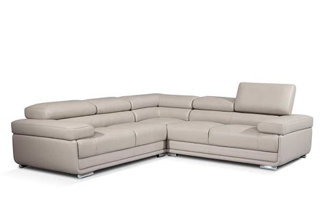 Modern Gray Leather Sectional Sofa Ef119 Leather Sectionals Modern Leather Sectional Sofas