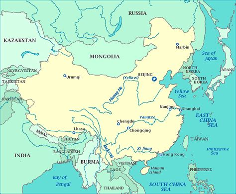 china korea map of china