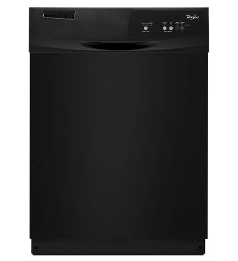 whirlpool black whirlpool 174 dishwasher with resource efficient wash system