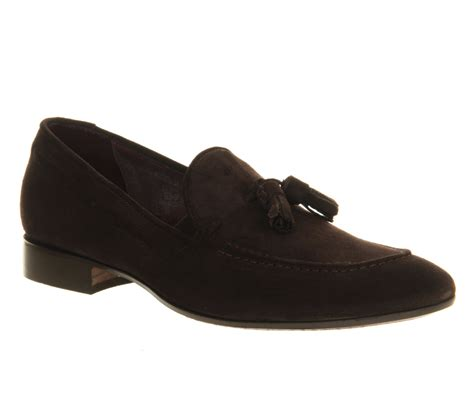 Maharani Loafer Flats Dir Co poste salvatore tassle loafers brown suede smart