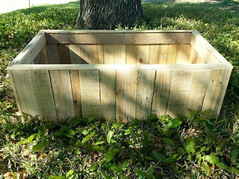 Raised Bed Planter Box by Pallet Planter Or Raised Garden Bed 99 Pallets