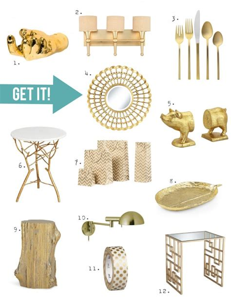 Gold Home Decor Accessories | home decor trend a touch of gorgeous gold stencil
