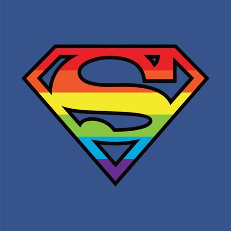 Superman Wall Stickers superman gay pride logo superman t shirt teepublic