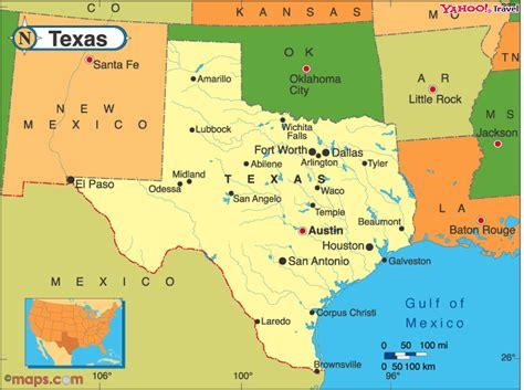 texas travel map texas