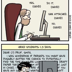 phd comics advisor email best of phd comics average time spent writing one e