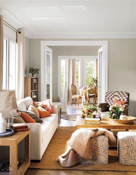 decoracion alfombras salon sal 243 n con paredes beige sof 225 blanco alfombra mesa de
