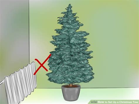 setting up christmas tree how to set up a tree 13 steps with pictures wikihow