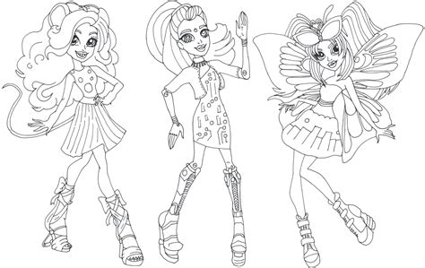 monster high luna mothews coloring pages free printable monster high coloring pages gala