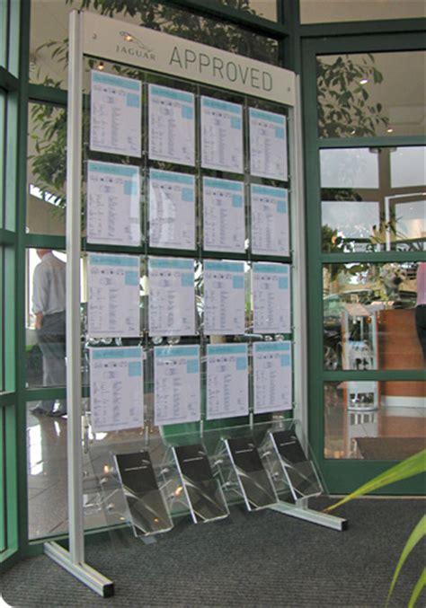 Display Safety Work Apparel On Showroom Floors - automotive dealership stock display boards kms